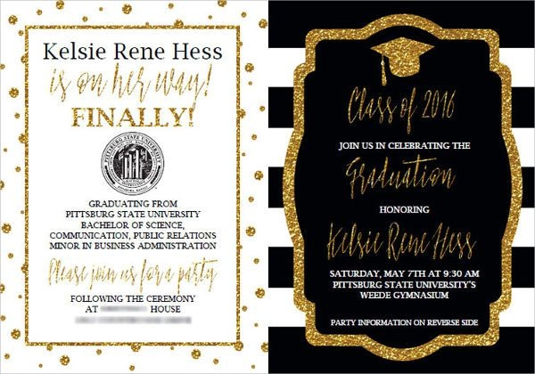 9 Graduation Invitation Wording Jpg Vector Eps Ai