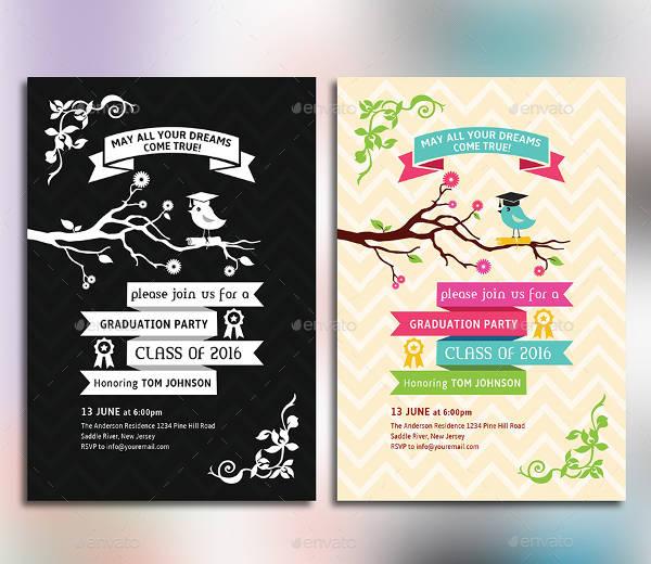 Graduation Party Card Design