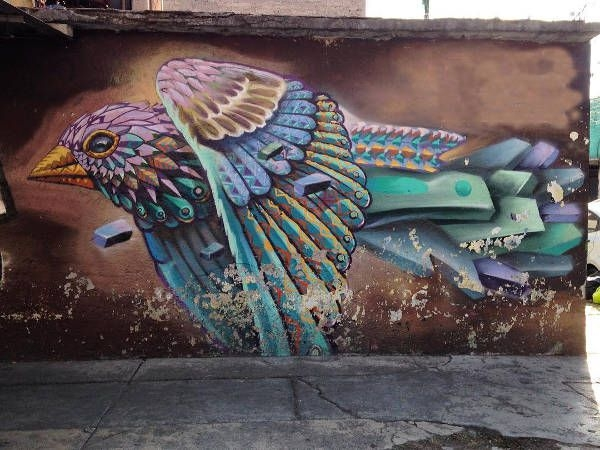 Graffiti Bird Art