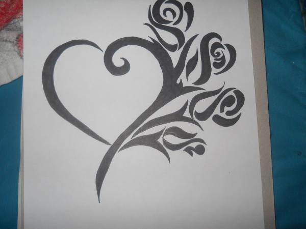 Graffiti Hearts Drawing