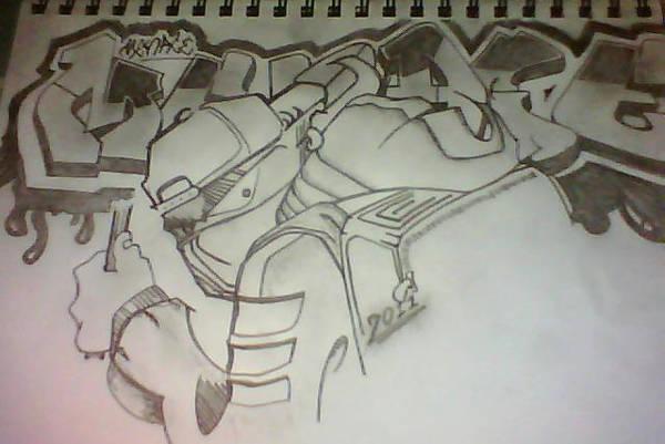 Graffiti Pencil Drawing
