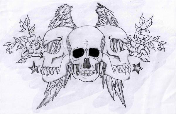 Graffiti Skulls Drawing
