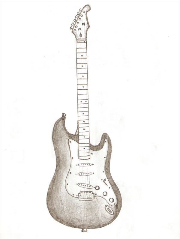 guitar outline drawing