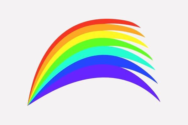 Half Rainbow Clipart