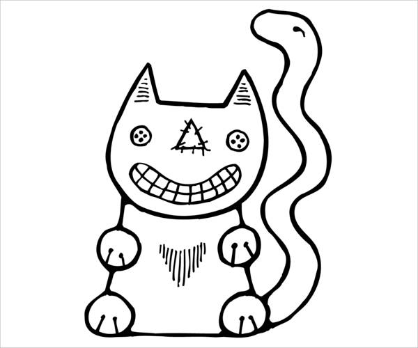9 Cat Coloring Pages JPG Ai Illustrator Download