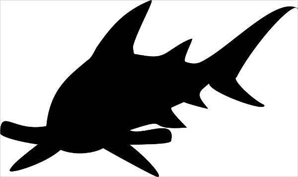 Hammerhead Shark Silhouette