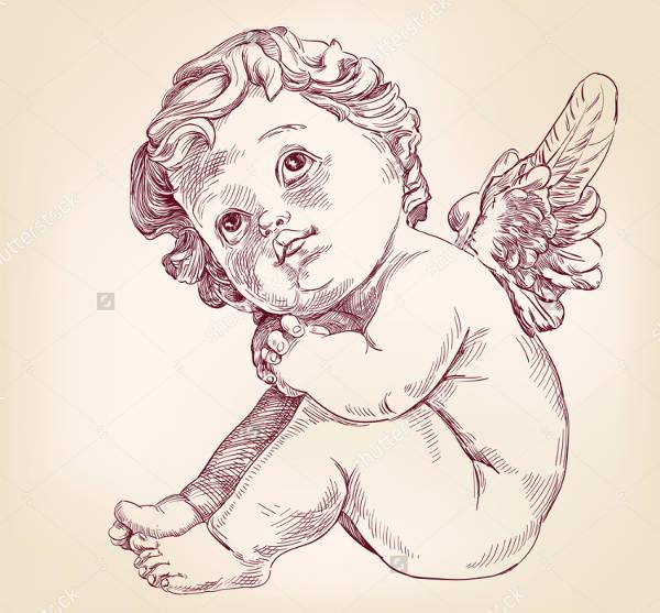 Hand Drawn Baby Drawing