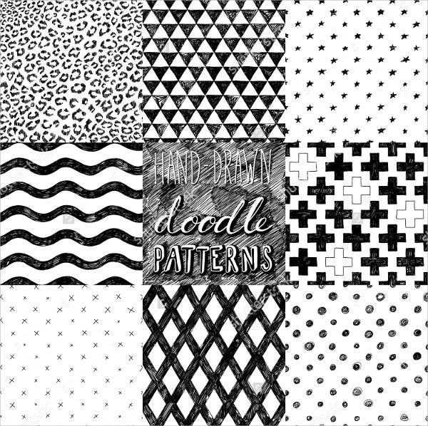 40 Doodle Patterns PSD Vector EPS PNG Format Download Gorgeous Doodle Patterns