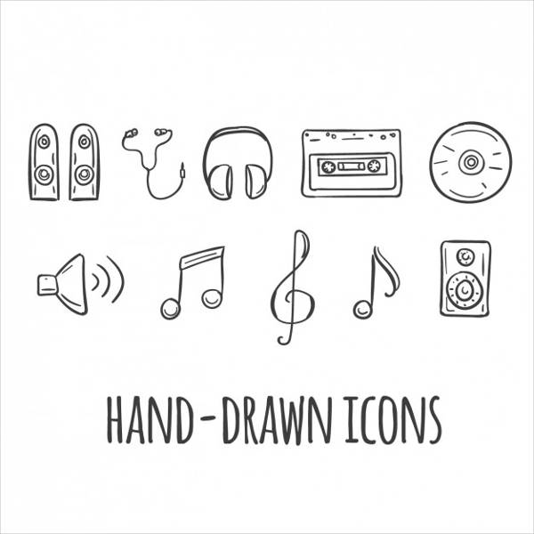 Hand Drawn Music Icons