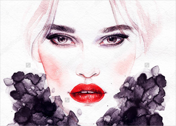 Hand Painted Fashion Illustration