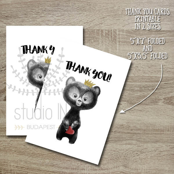 Handmade Baby Thank You Card
