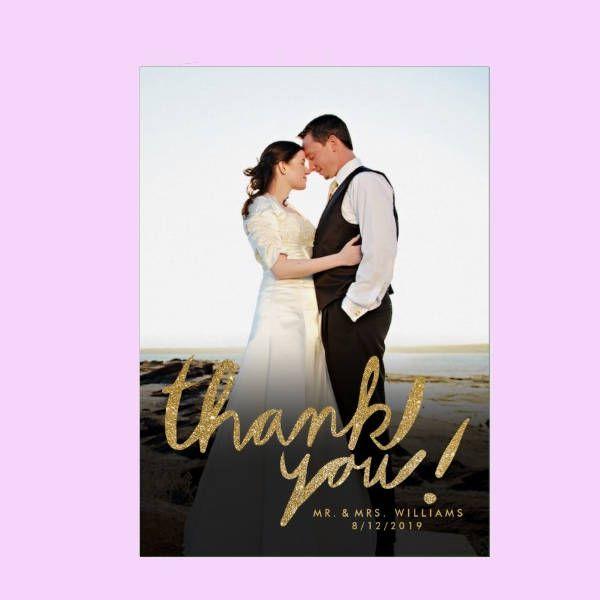 Handwrite Photo Thank You Card