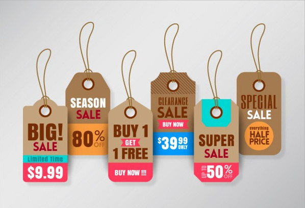 Hanging Sale Price Tag