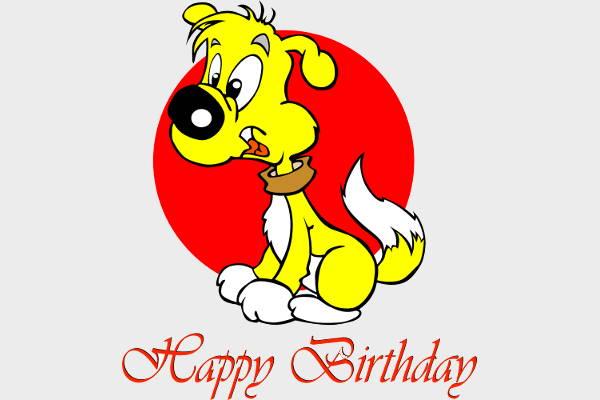 Happy Birthday Dog Clipart