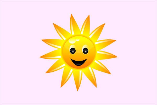 Happy Sunflower Clipart