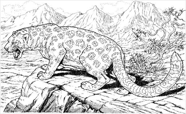 Hard Animal Coloring Page