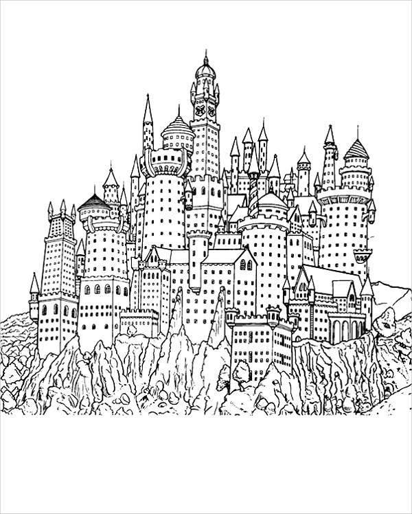 Harry Potter Castle Coloring Page