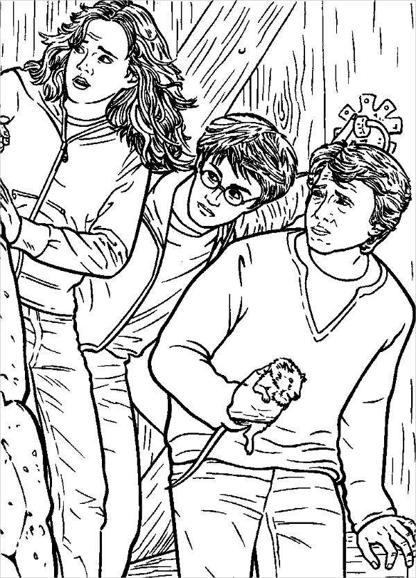 Harry Potter Coloring Page for Adults