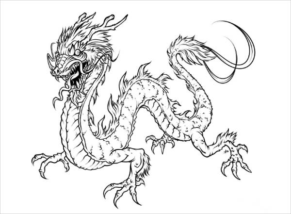 Harry Potter Dragon Coloring Page
