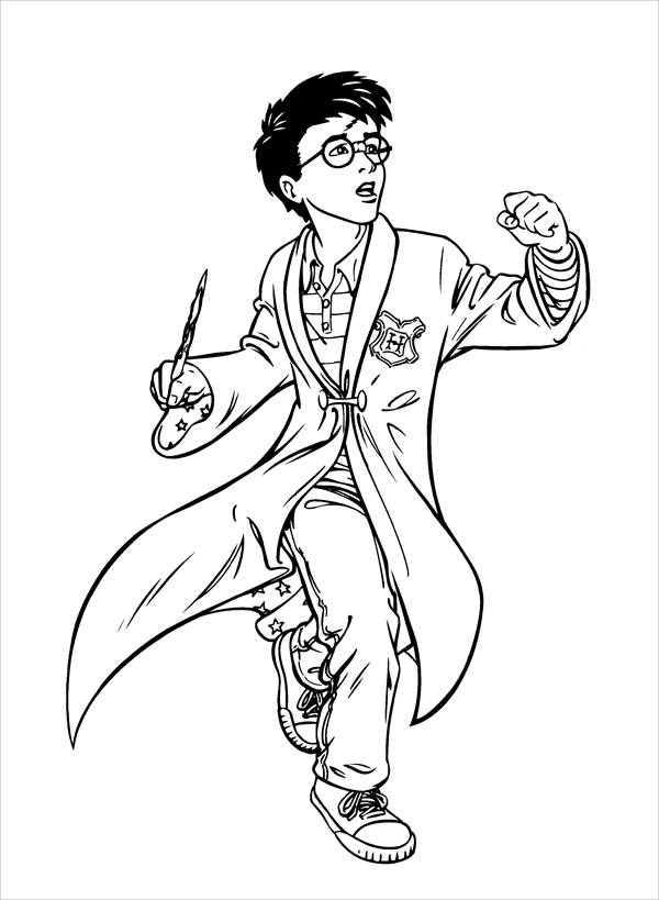 Harry Potter Movie Coloring Page