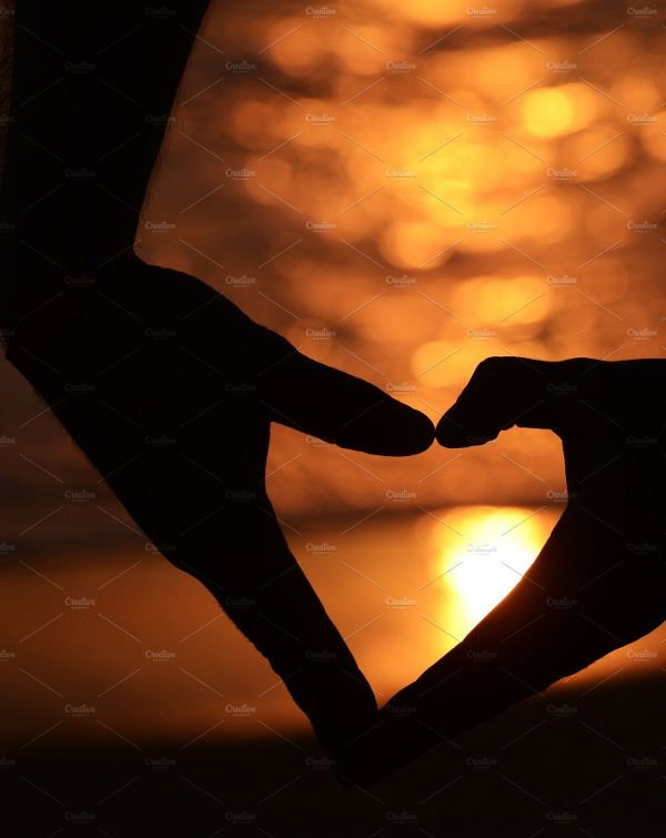Heart Hands Silhouette