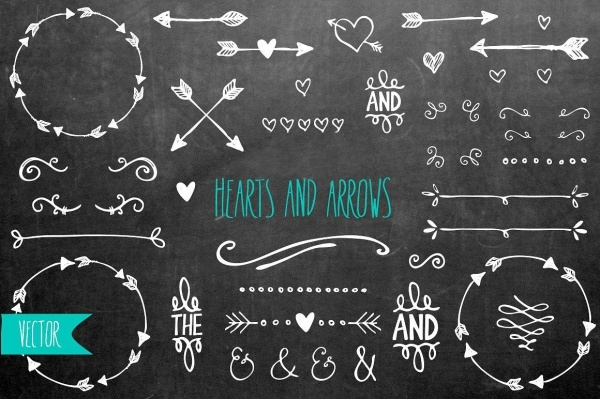 Hearts & Arrows Vector