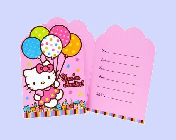 Hello Kitty Balloon Dream Invitation