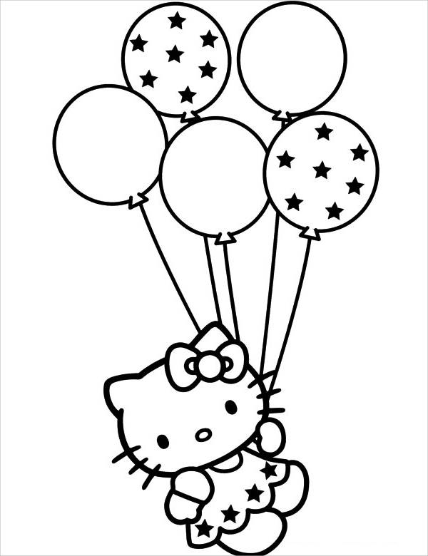 Hello Kitty Holiday Coloring Page