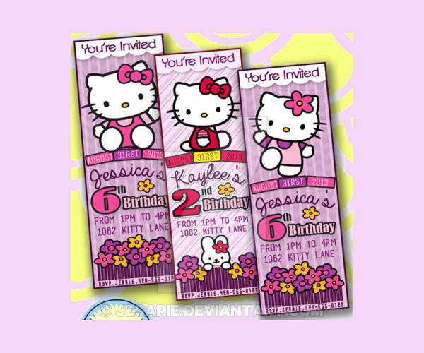 Hello Kitty Ticket Invitation