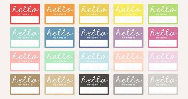Hello Printable Name Tag