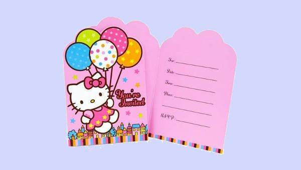 5aec61216 14+ Hello Kitty Invitations – JPG, Vector EPS, AI, PSD