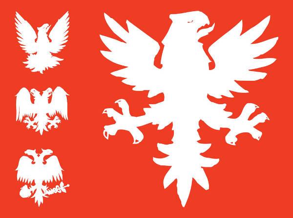 Heraldic Eagle Graphics Silhouette