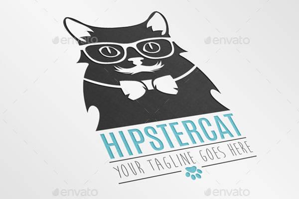 Hipster Cat Logo