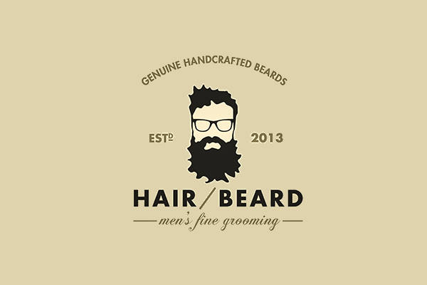 Hipster Style Grooming Logo
