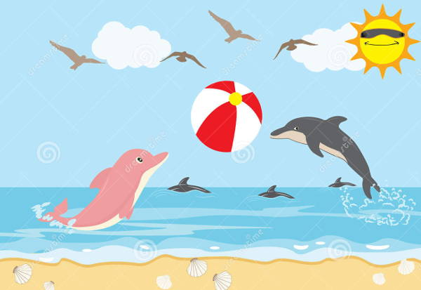 Holiday Beach Clip Art