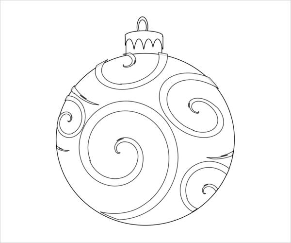 Holiday Ornaments Coloring Page