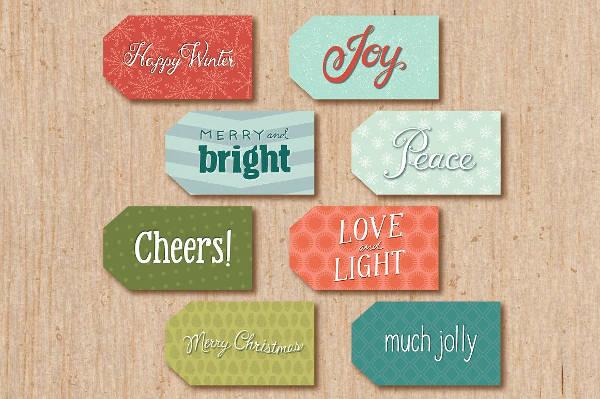 Holiday Printable Tag Design