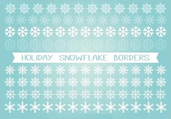 Holiday Snowflake Vector