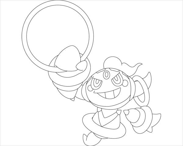 Hoopa Pokemon Coloring Page