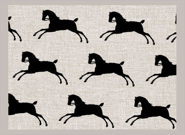 Horse Silhouette Pattern
