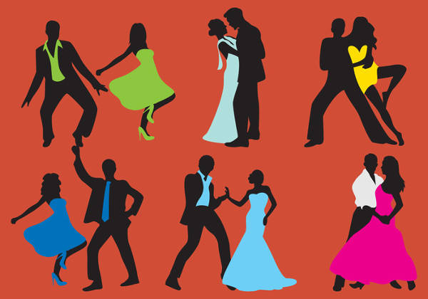 Human Dancing Silhouette