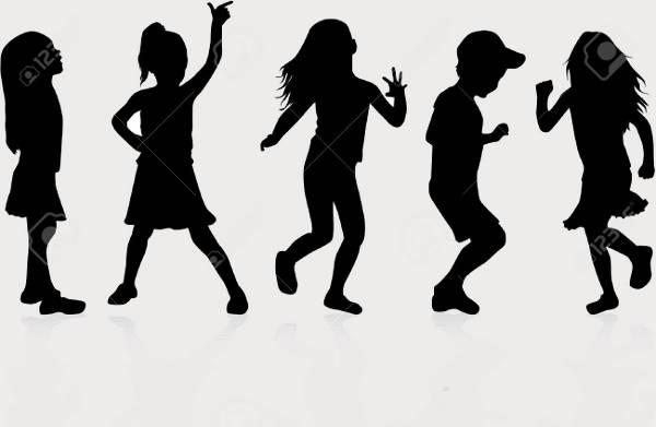 Human Kids Silhouette