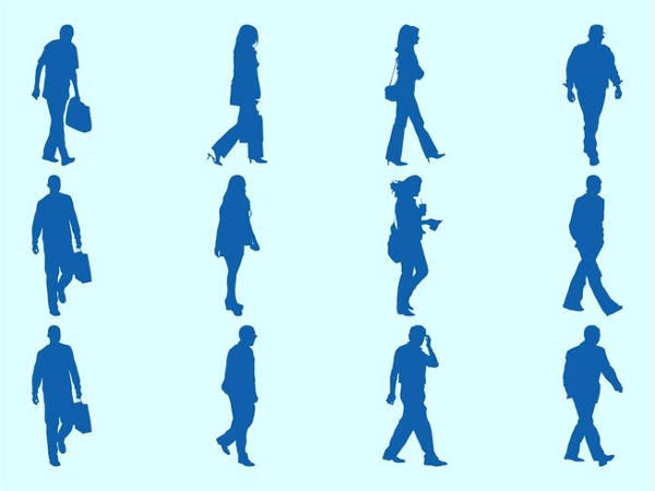 Human Walking Silhouette