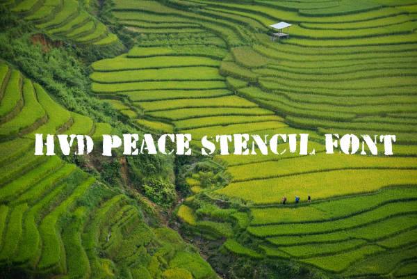 Hvd Peace Stencil Font