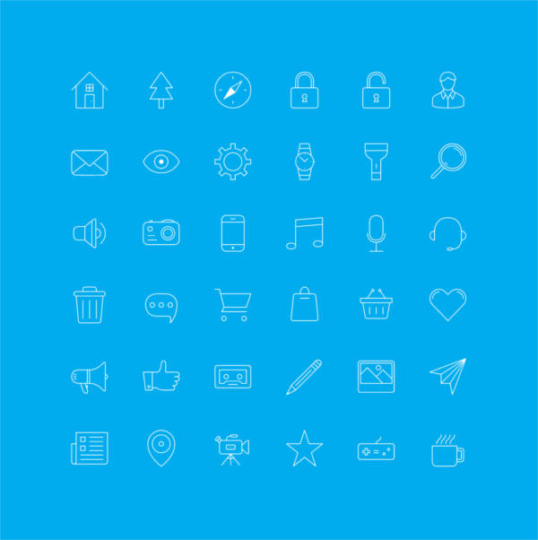 ios7 outline icons