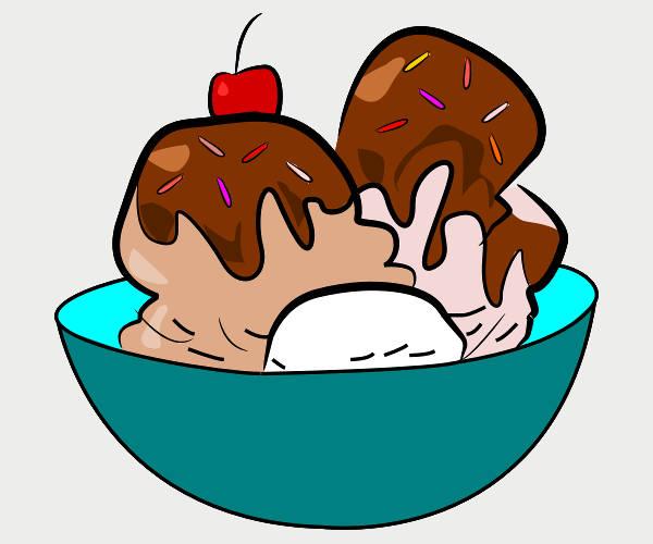 Ice Cream Bowl Clipart