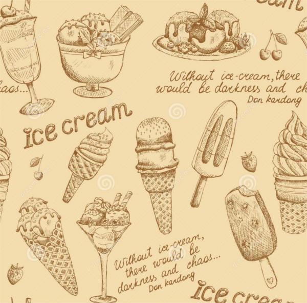 Ice Cream Vintage Pattern