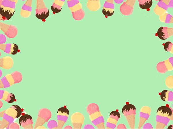 Ice Cream Frame Clipart