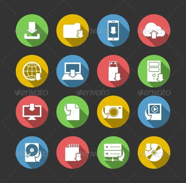Internet Download Symbol Icons