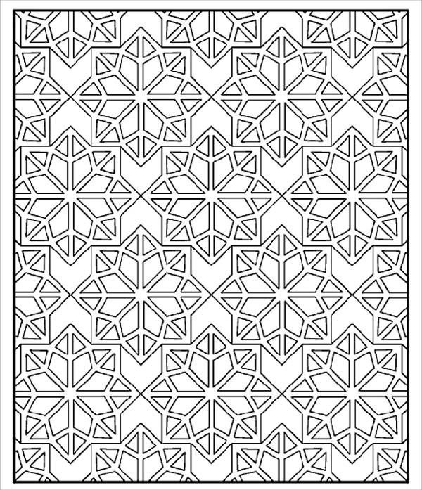 Islamic Pattern Coloring Page